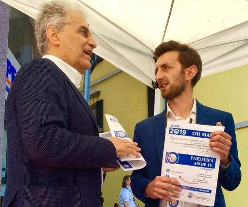"""A sinistra, Sebastiano Cavalli (Rinnovamento Civico) insieme a Emanuele Bolla (Fratelli d'Italia), artefici del progetto politico """"Alba 2019"""""""