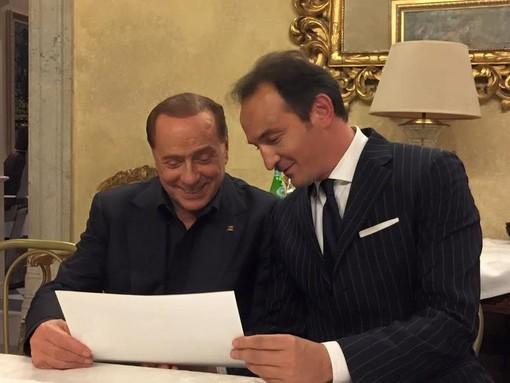 Uno scatto di qualche anno addietro: l'albese Alberto Cirio con l'ex premier Silvio Berlusconi