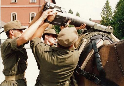La locandina del 25° raduno degli Artiglieri Aosta a Saluzzo