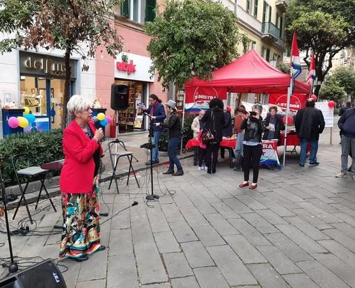 Elezioni europee, la candidata Maria Gabriella Branca (La Sinistra) conclude la campagna elettorale