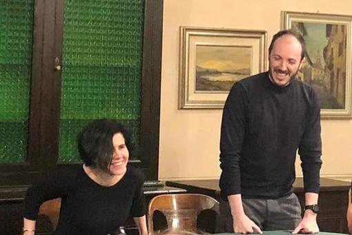 I due coordinatori provinciali di Italia Viva Marta Giovannini, sindaco di Verduno, e Francesco Hellmann, assessore a Scarnafigi