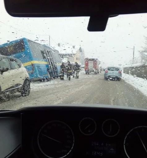 La foto dell'incidente, scattata da un lettore
