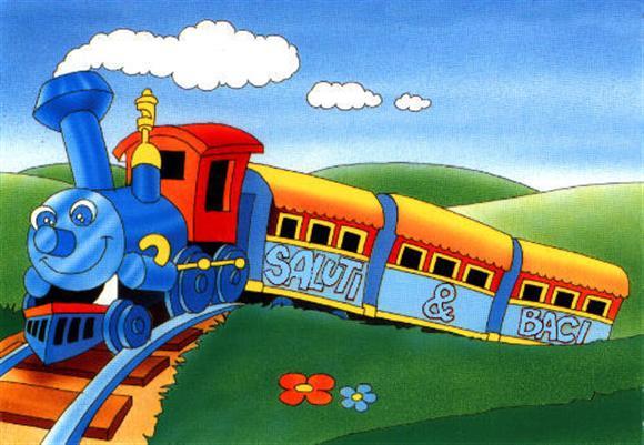 Buon natale molto carino col trenino per i vostri bimbi - Immagini del treno per colorare ...