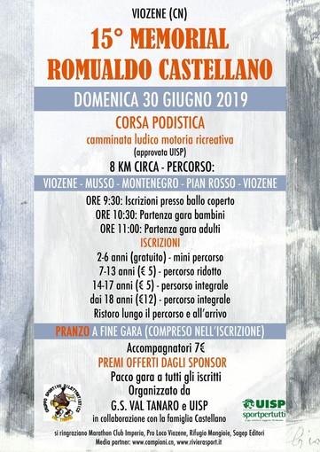 Podismo. Conto alla rovescia per il 15° 'Memorial Romualdo Castellano' in scena a Viozene