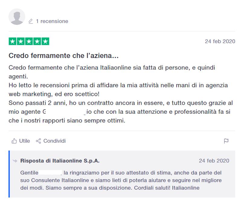recensioni positive e negative Italiaonline