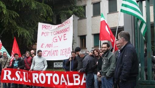 La proteste dei lavoratori che anticiparono la definitiva chiusura delo stabilimento di via Liberazione