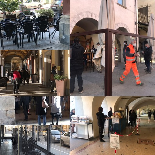 A Cuneo bar chiusi e tavolini vuoti: dopo un mese si torna solo all'asporto