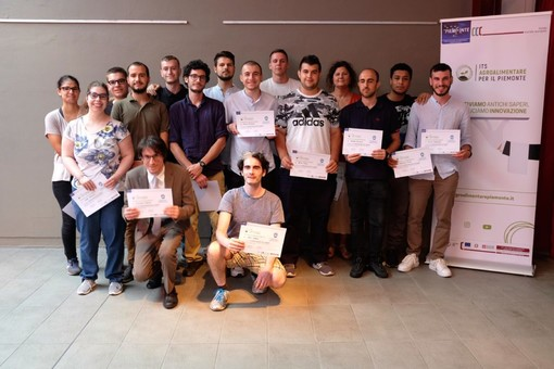 I diplomati del corso di Cuneo sulla Trasformazione Ortofrutticola