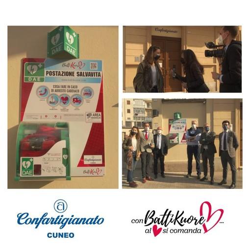 Confartigianato Cuneo: nuovo defibrillatore in corso IV novembre