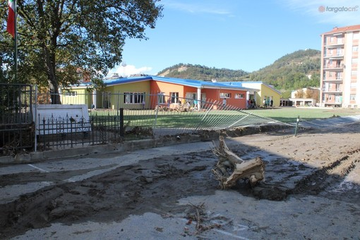 L'attuale materna colpita dall'alluvione lo scorso ottobre