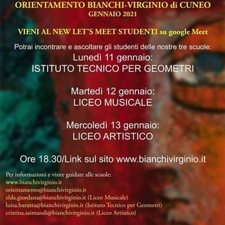 Scuole aperte e orientamento in presenza: tre giorni di visita presso l'Istituto Bianchi-Virginio di Cuneo