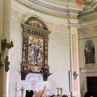 Villanova Mondovì, svelato il restauro della pala della Madonna del Rosario a Santa Caterina