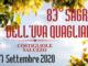 Domenica 27 settembre a Costigliole Saluzzo torna la Sagra dell'Uva Quagliano