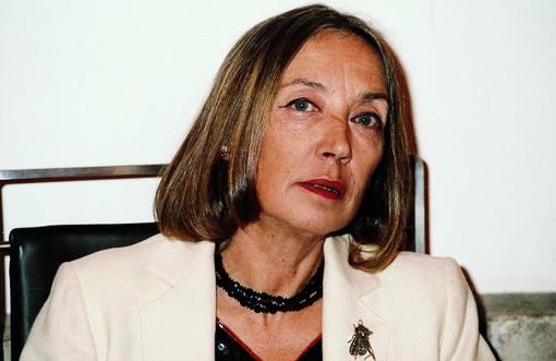 Oriana Fallaci (Foto di GianAngelo Pistoia, Colonia 1987, da Wikipedia)