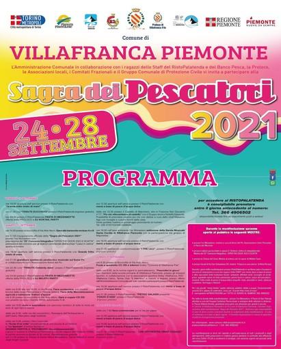 Tutto è pronto per la Sagra dei Pescatori di Villafranca Piemonte (To)