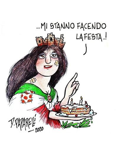 La festa del 2 Giugno secondo il vignettista Danilo Paparelli