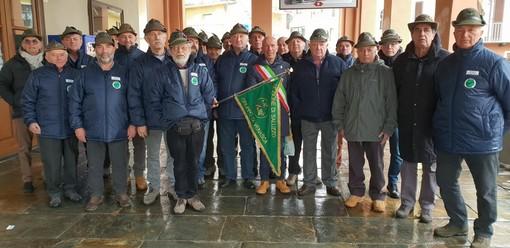 Venasca, domenica gli alpini di Venasca si sono ritrovati per il tradizionale pranzo annuale del tesseramento