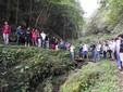 Gli allievi durante una passeggiata lungo i sentieri della Valle Grana