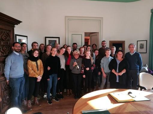 In Sala Giunta l'incontro con gli ospiti tedeschi