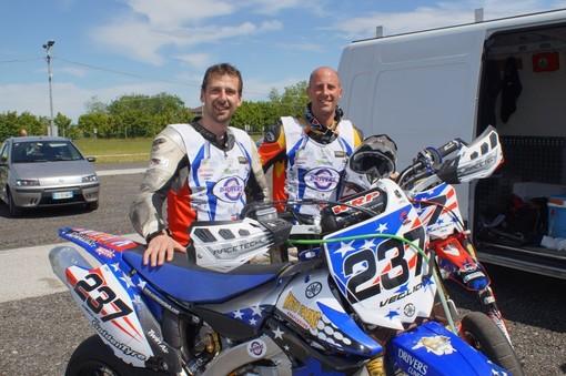 Enrico Veglia, a sinistra, insieme a Mauro Cucchietti