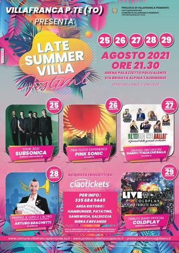 Villafranca Piemonte 'butta il cuore oltre l'ostacolo' con il Late Summer Villa Festival