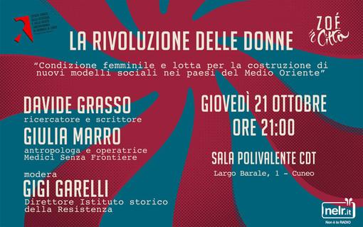 """""""Zoè in città"""" a Cuneo, non solo d'estate: la rassegna propone un incontro di approfondimento e riflessione sul tema della """"Donna in Medio Oriente"""""""