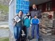 Oliviero Patrile gestore rifugio Vallanta e famiglia