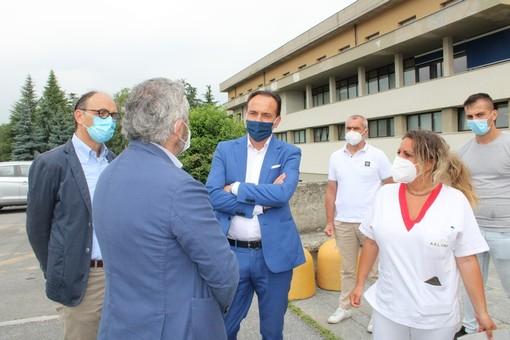 """Cirio in visita all'ospedale di Ceva: """"Il 28 giugno riaprirà chirurgia, fiduciosi di tornare a piena operatività entro fine estate"""" (VIDEO)"""