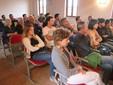 Frutticoltori e tecnici durante la presentazione