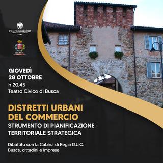Distretto urbano del commercio: a Busca incontro-dibattito con cittadini e imprese
