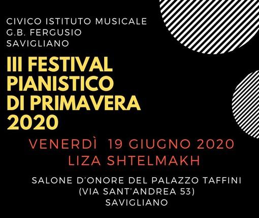 """Savigliano, a Palazzo Taffini riparte la musica con il """"Festival pianistico di Primavera"""""""