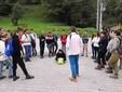 Un altro momento della visita in Valle Grana