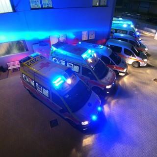 Le ambulanze del Gruppo Volontari del Soccorso di Clavesana