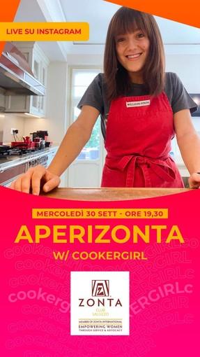 il manifesto dell'aperiZonta con Cooker Girl, Aurora Cavallo