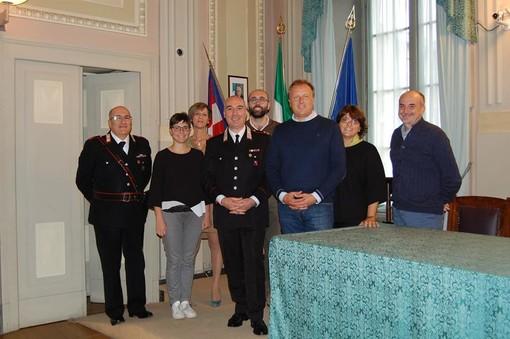 Ambrosino Tala, nuovo comandante della Compagnia dei carabinieri di Mondovì, ha incontrato questa mattina la Giunta comunale