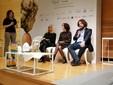Il direttore generale di Acqua S. Bernardo Antonio Biella sul palco di Sala Fenoglio con Liliana Allena e Beatrice Costamagna