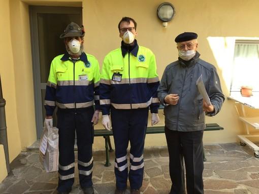 """Materiale sanitario in dono dagli Alpini di Mondovì: il """"grazie"""" della casa di riposo di Dogliani"""