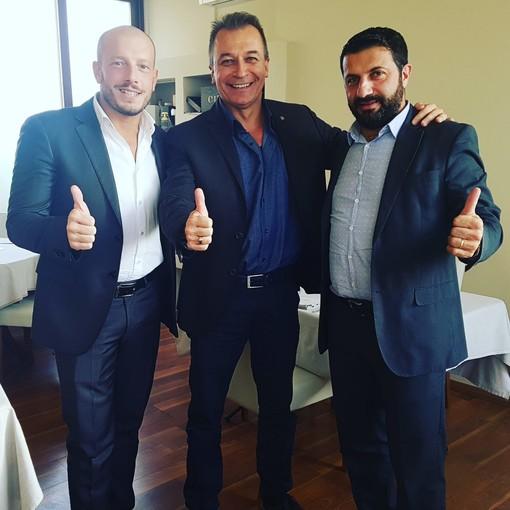 Da sinistra, il sindaco Enrico Ioculano (Ventimiglia), Paolo Bongioanni (direttore ATL Cuneese) e Armando Biasi (sindaco di Vallecrosia)