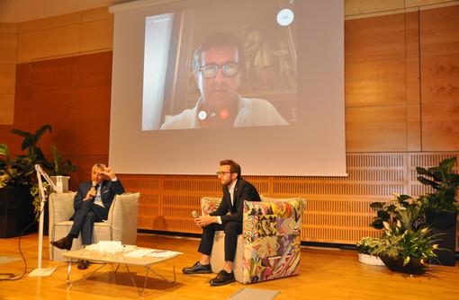 Il sindaco Bo e il vice Bolla in collegamento col primo cittadino di Bergamo Giorgio Gori