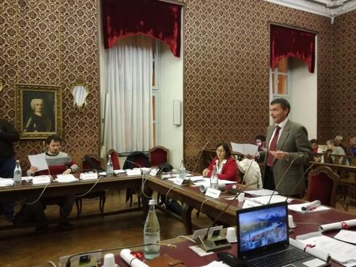 Alberto Coggiola in consiglio comunale - foto di repertorio