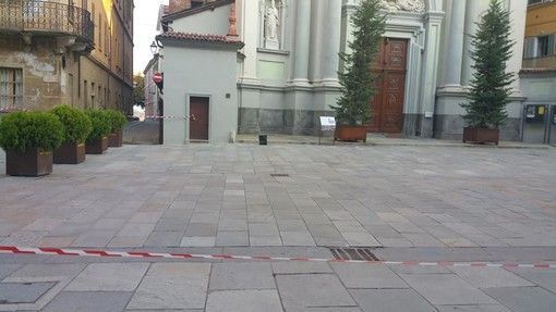 Una foto dell'area transennata apparsa su Facebook