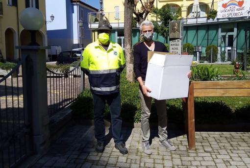 """Coronavirus: Alpini monregalesi donano dpi alla casa di riposo """"Monsignor Eula"""" di Roccaforte Mondovì"""