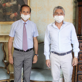 Il sindaco Bo col presidente di Apro Gionni Marengo