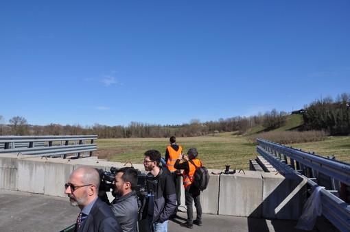 Il troncone dell'autostrada interrotta a Cherasco