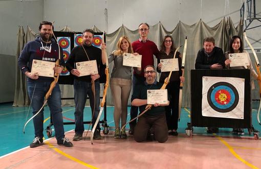 I primi diplomi di arciere del 2018 presso gli Arcieri di Bra...