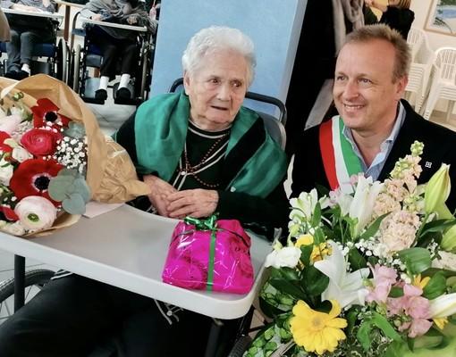 Mondovì: Lorenzina Bertolino festeggia 100 anni