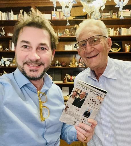 L'autore Gian Maria Aliberti Gerbotto con Beppe Ghisolfi