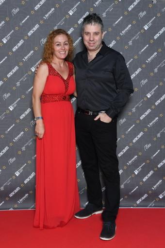 Il direttore artistico di AmiCorti International Film Festival, Ntrita Rossi,  con il regista Evgeny  Afineevsky - Foto Daniele Venturelli