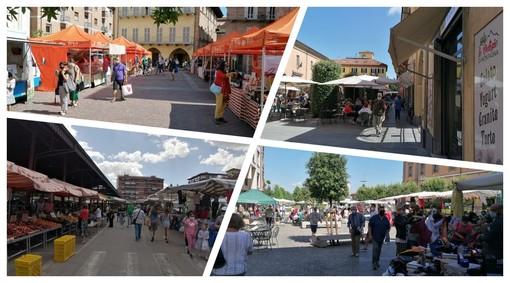 Alcune immagini del mercato di Alba di stamane