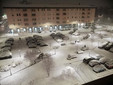 Alba, nevica su piazza Cristo Re (dal profilo Fb del Comune)